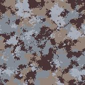 Winter Camouflage. Seamless Tileable Texture.
