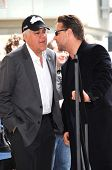 Jay Leno and Russell Crowe  at the Russell Crowe star ceremony into the Hollywood Walk of Fame, Hollywood, CA 04-12-10