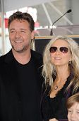 Russell Crowe and Danielle Spencer  at the Russell Crowe star ceremony into the Hollywood Walk of Fame, Hollywood, CA 04-12-10