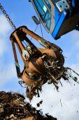 Crane Grabber Loading Recycling Steel