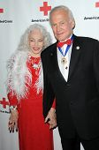 Lois Aldrin and Buzz Aldrin  at the Red  Cross Red Tie Affair Fundraiser Gala, Fairmount Miramar Hot