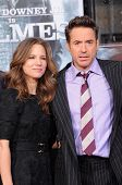 Robert Downey Jr. and wife Susan Levin at Robert Downey Jr. Hand and Footprints Ceremony, Chinese Th