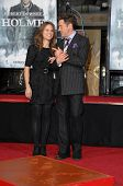 Robert Downey Jr. and wife Susan Levin  at Robert Downey Jr. Hand and Footprints Ceremony, Chinese T