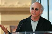 Larry David  at the induction ceremony for Mary Steenburgen into the  Hollywood Walk of Fame, Hollyw