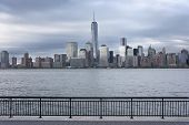 Lower Manhattan and One World Trade Center or Freedom Tower New York City