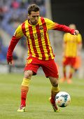 BARCELONA - MARCH, 29: Jordi Alba of FC Barcelona in action during a Spanish League match against RC