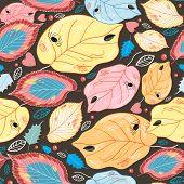 Pattern autumn leaves