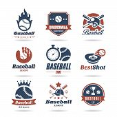 foto of softball  - Baseball jobs associated with a set of icons that can be used - JPG