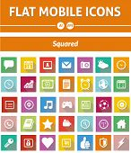 Flat Mobile Icons - Squared Version