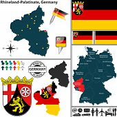 Map Of Rhineland-palatinate, Germany