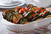 Ratatouille In A Baking Dish Close Up