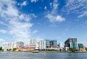 Siriraj Hospital across Chao Phraya River, Bangkok Thailand