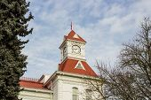 Benton County Courthouse clock tower, Corvallis, Oregon