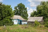 Russian Village House And Barn