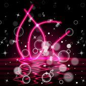 River Neon Represents Bubbles Bright And Light