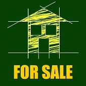 For Sale Shows Real Estate Agent And Architectural