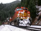 Snowy mountains freight train 2