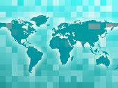 World Map Means Countries Global And Globalization