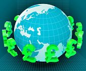 Forex Globe Represents Exchange Rate And Currency