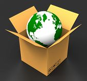 World Delivery Indicates Sending Delivering And Postage