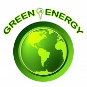 Green Energy Shows Solar Power And Eco