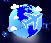 picture of aeroplane  - Global Flights Showing Travel Guide And Aeroplane - JPG