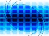 Grid Background Represents Blue Twist And Twirling