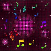Background Pink Shows Hi Tech And Clef