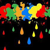 Splash Paint Represents Blots Backgrounds And Blotch