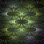 abstract fractal background on the black for art projects