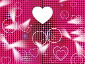 Hearts Grid Means Lightsbeams Of Light And Affection