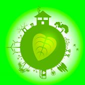 Eco Planets Represents Go Green And Eco-friendly