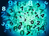 stock photo of byte  - Numbers Education Meaning Bytes Digits And Numeral - JPG