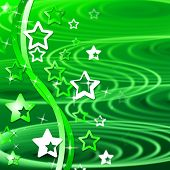 Green Swirl Means Backgrounds Abstract And Template