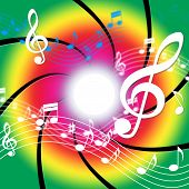 Notes Music Means Bass Clef And Audio