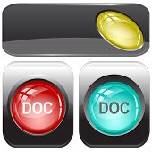 Doc. Internet buttons. Raster illustration.