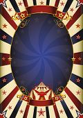 Fantastic night poster circus. a circus vintage poster for your advertising.