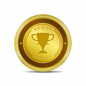 Cup Circular Vector Gold Web Icon Button