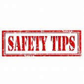 Safety Tips-stamp