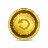 Reset Circular Vector Gold Web Icon Button