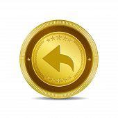 Reset Replay Circular Vector Gold Web Icon Button