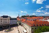 View of old castle in Bratislava