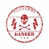 Danger grunge rubber stamp