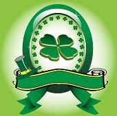 Saint Patrick green frame