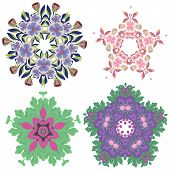bright beautiful floral decorations in different styles