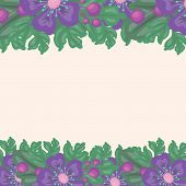 beautiful floral background with space for text