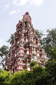 Gigantic Hindu temple tower or Gopuram or Vimana of deity Kadu Mallikarjunaswamy temple