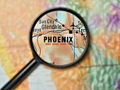 Phoenix magnified on a map