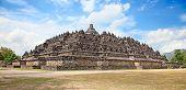 Borobudur temple near Yogyakarta on Java island, Indonesia