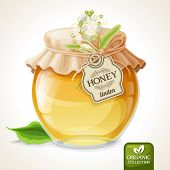 Linden honey jar